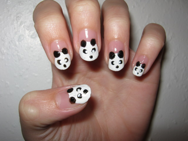 Panda nail art by jooo chan on deviantart panda nail art by jooo chan prinsesfo Image collections