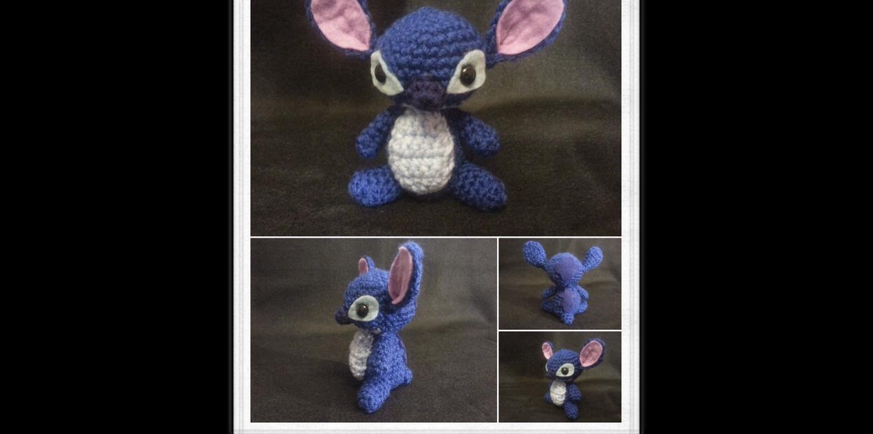 Stitch Amigurumi by kiwicrochet