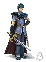 Marth Pixelated by EMCarts