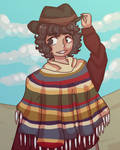 (Request) The Fourth Doctor as a cowboy