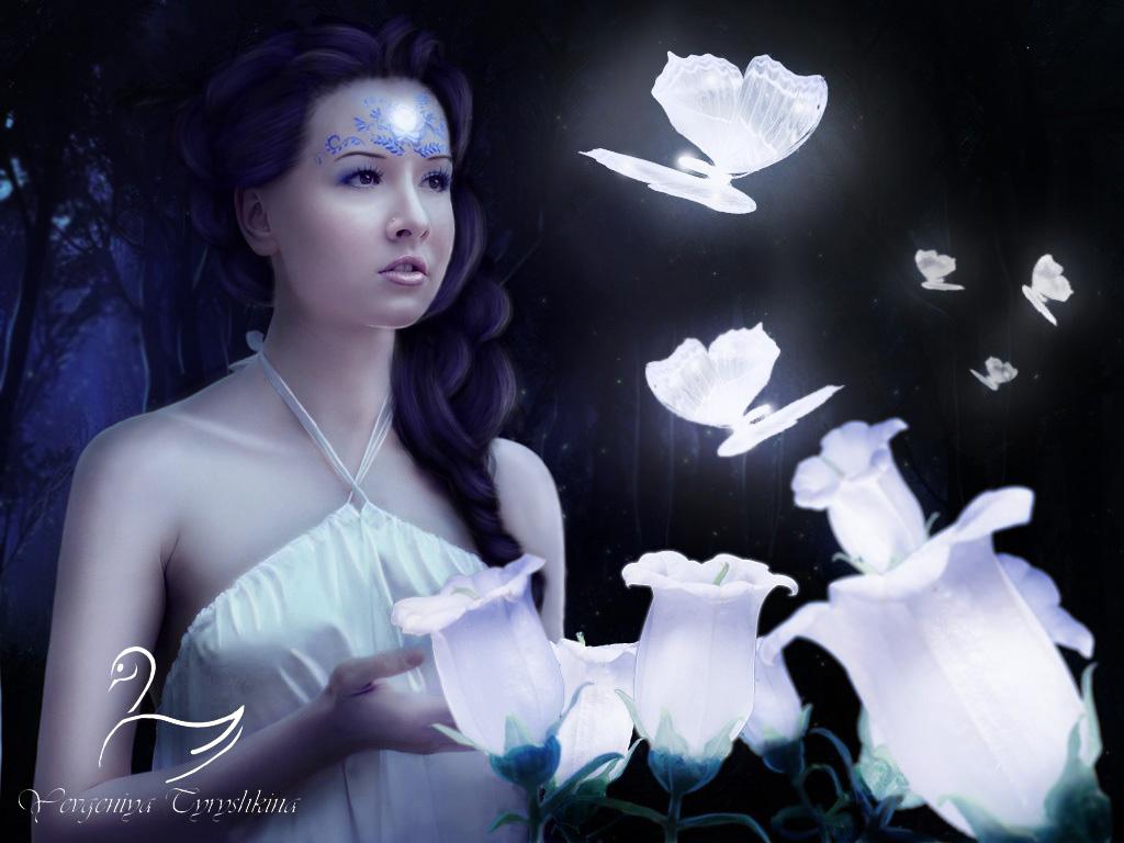 Magical Night Forest7 by SwanYevgeniya