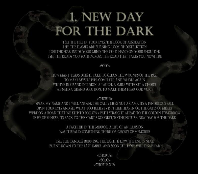 New Day for the Dark Lyrics by Celitus on DeviantArt