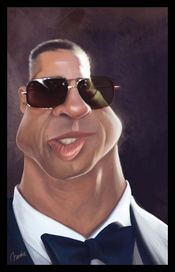 Caricaturas de famosos Brad_Pitt_Caricature____by_Norke