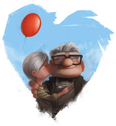Carl and his big big love by Norke