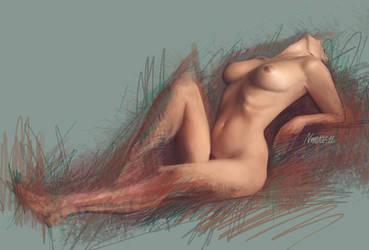 Nude sketch by Norke