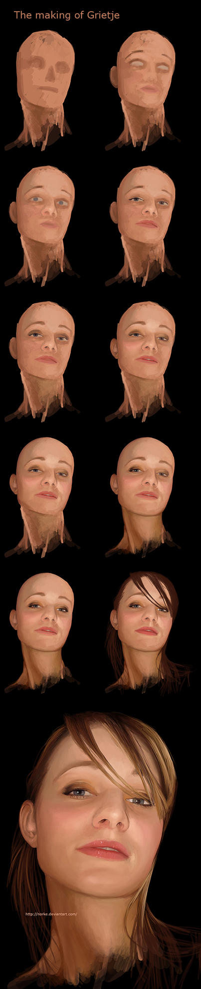 Grietje Portrait Walkthrough.. by Norke