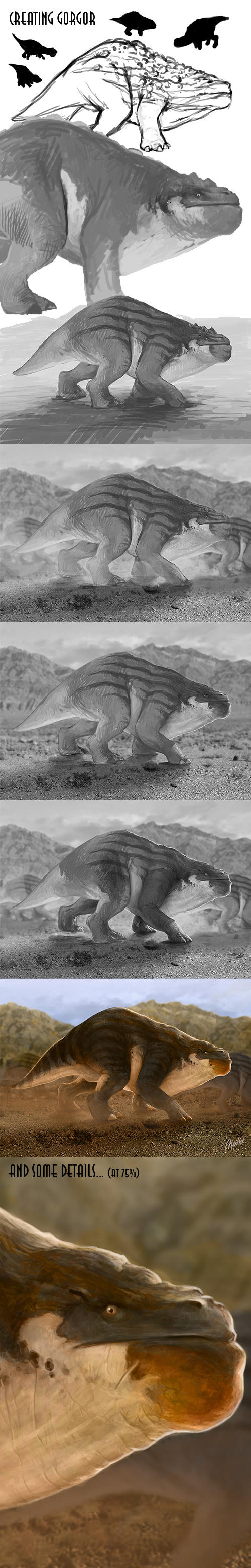 Gorgor Steps and details... by Norke