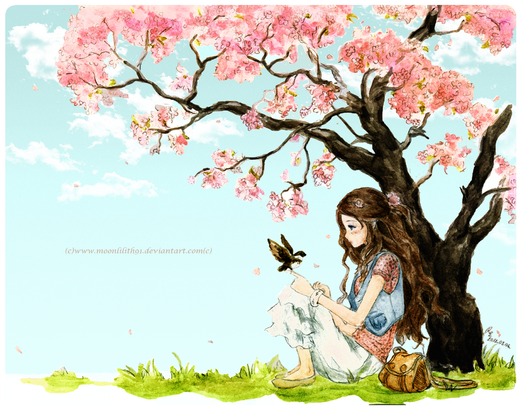 Spring girl by *Moonlilith91