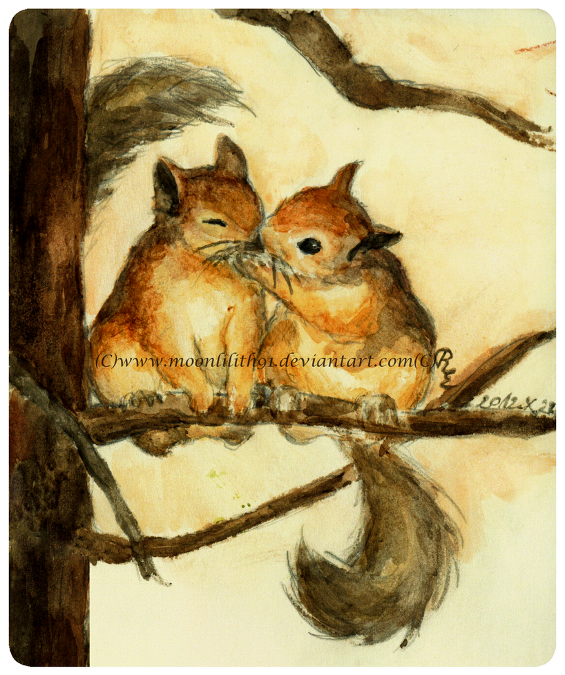 :Squirrels love: by Moonlilith91