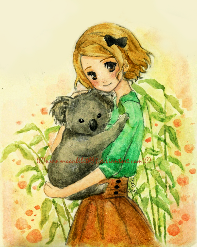 :Girl with koala: by Moonlilith91