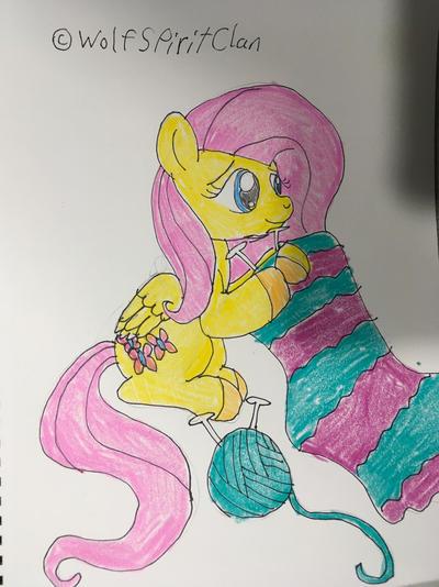Fluttershy Knitting