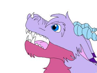 Roaring furry dragon Adean