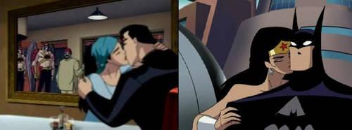 Wonder Woman Kiss Batman by Derrick55