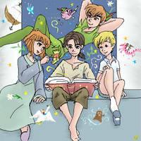 Reading beside the window by shibu