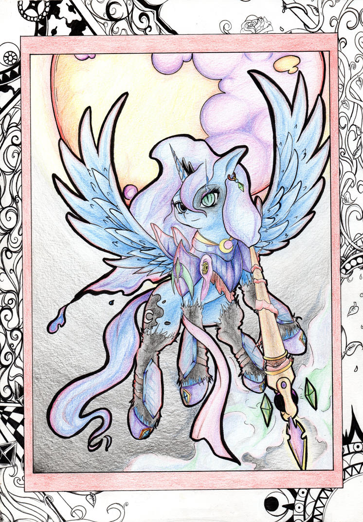 .::AeroDoodle::. Warrior Luna by Aerostoner
