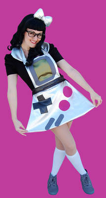 Lil Rae Cakes Game Boy inspired apron