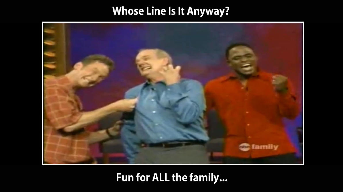 Whose Line Is It Anyway Poster by SteveJones313 on DeviantArt