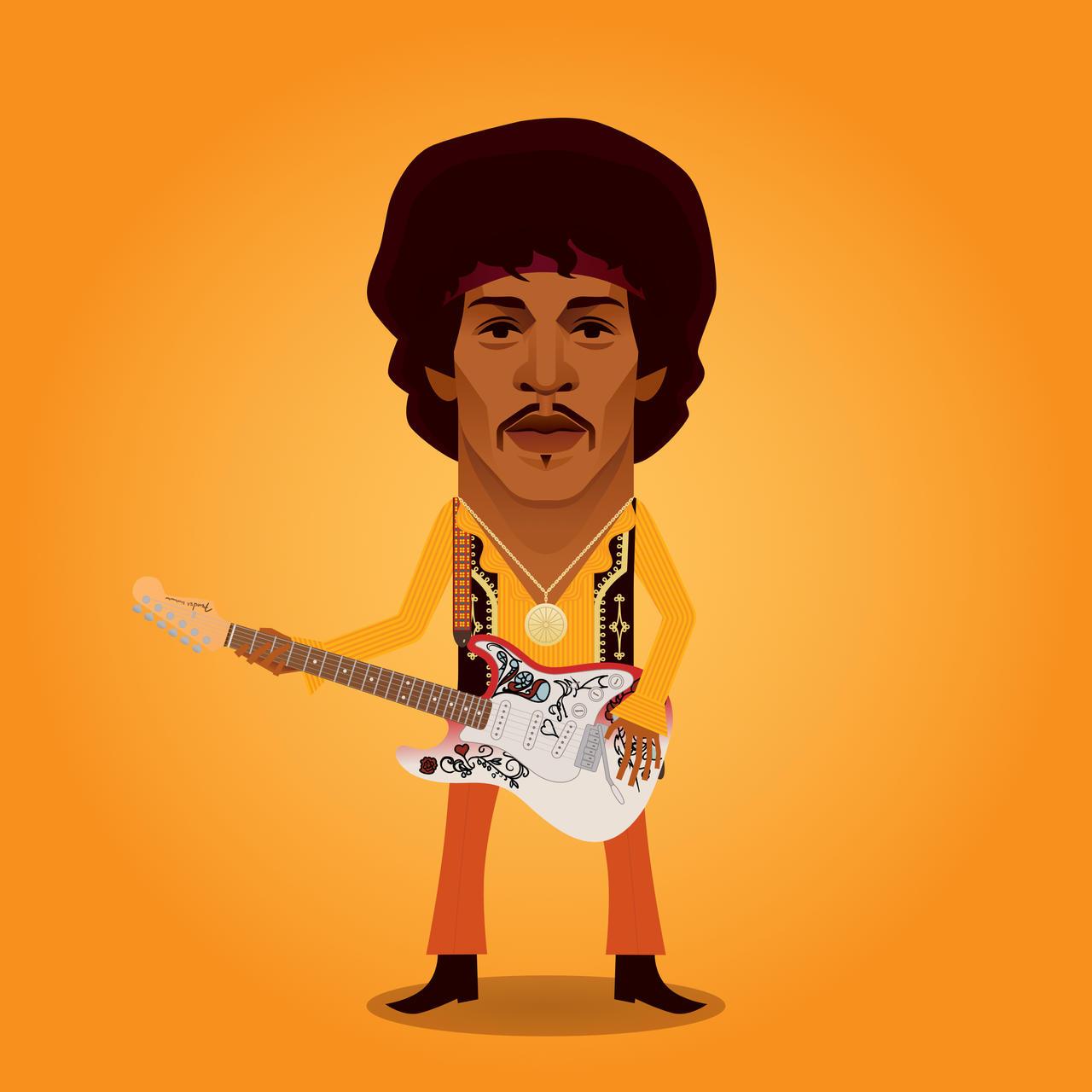 Rock Icons - Jimi Hendrix