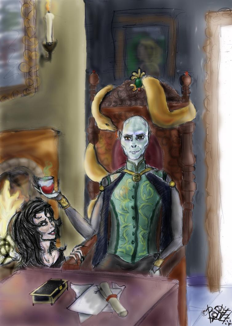 Voldemort and Bellatrix by Basty007 on DeviantArt