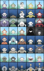 Slendytubbies Mugshots by Xamp6