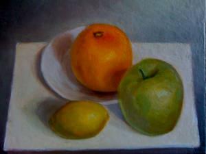 Still Life, Warm Fruits