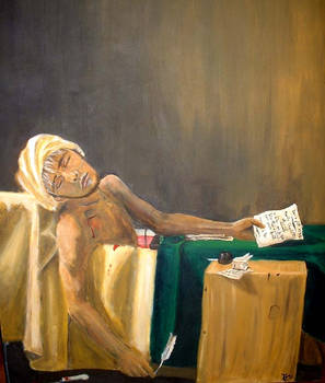 Death of Marat, Self-Portrait