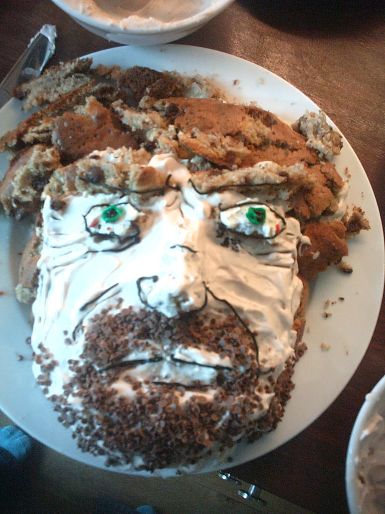 Chuck Norris Facecake by ministerofevil