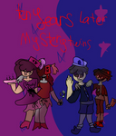 Dark/Sad AU Mystery twins- took 4 hours