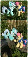 Lyra and Bonbon couple My Little Pony plush toy