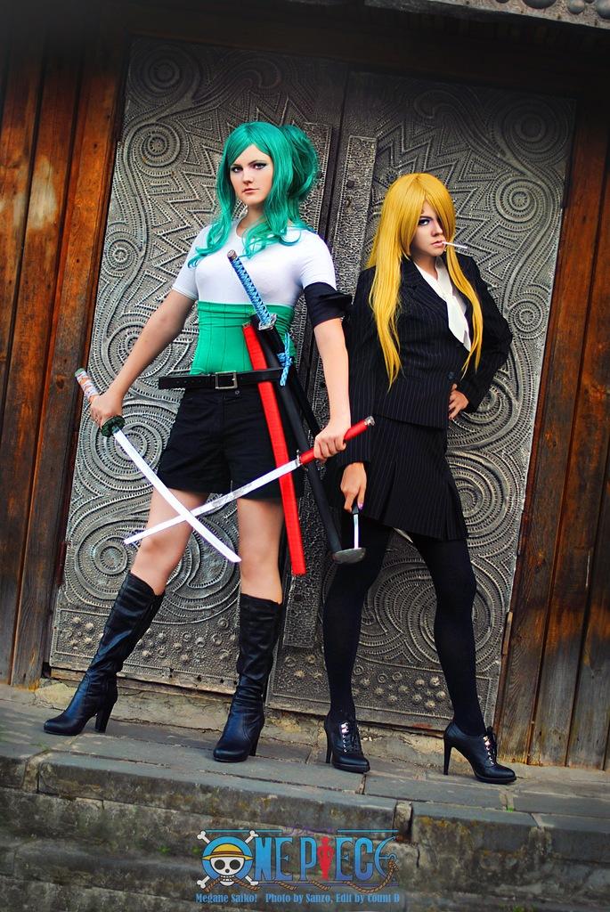 Fem Zoro and Sanji_original by Megane-Saiko