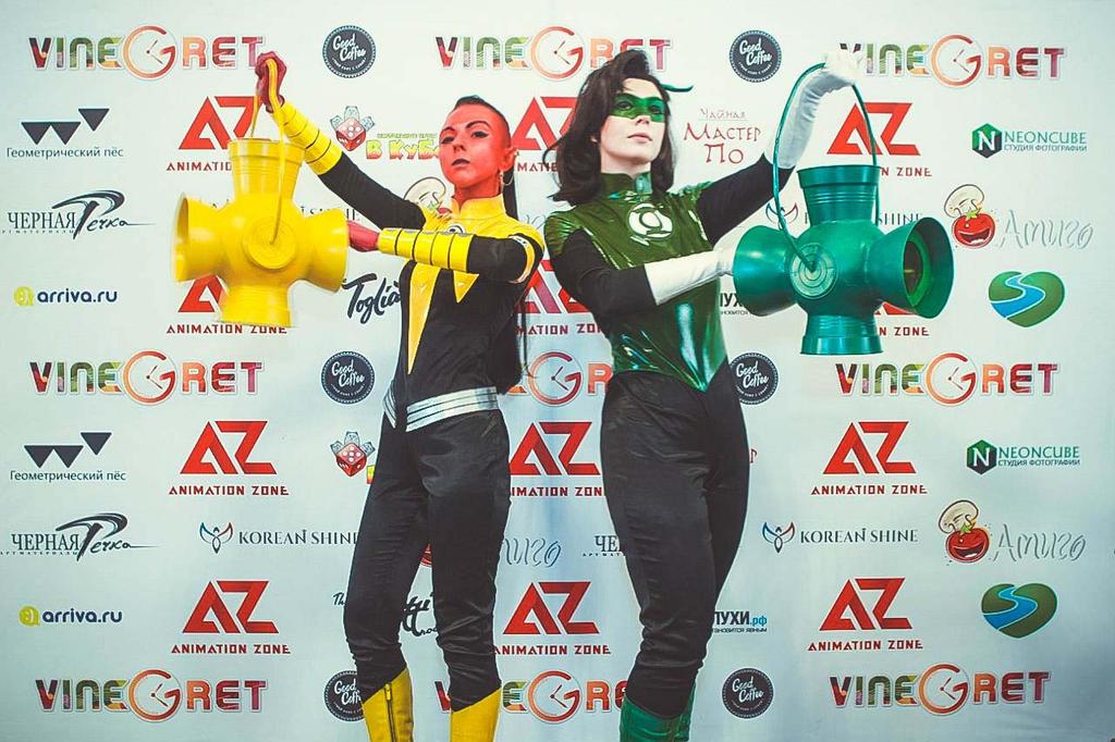 Fem!Hal Jordan and Fem!Sinestro - festival 02 by Megane-Saiko
