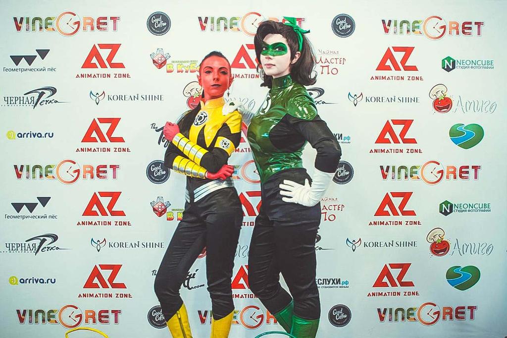 Fem!Hal Jordan and Fem!Sinestro - festival 03 by Megane-Saiko