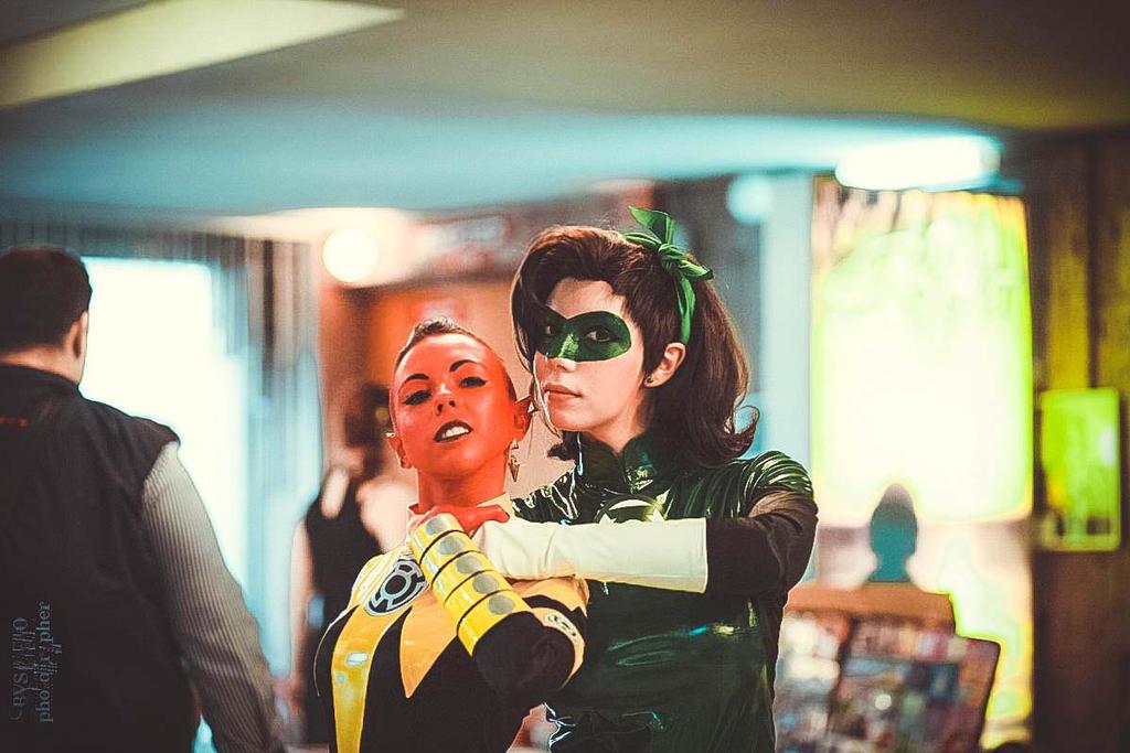 Fem!Hal Jordan and Fem!Sinestro - festival 05 by Megane-Saiko