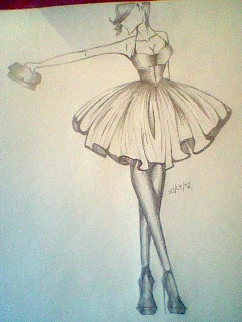 Fashion Sketch 8. by Sophi-Jayne