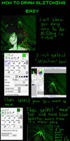 tutorial: how to draw glitching (paint tool sai)