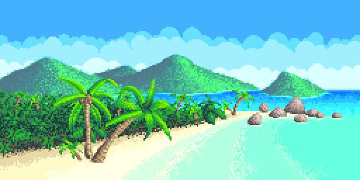 Tropical beach by ruben3d