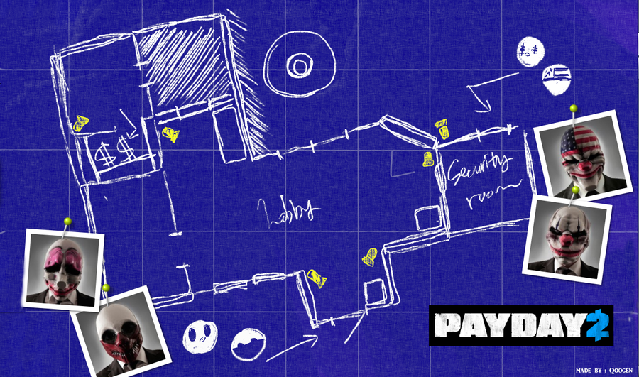 I made payday 2 blue print by baka999 on deviantart i made payday 2 blue print by baka999 malvernweather Images