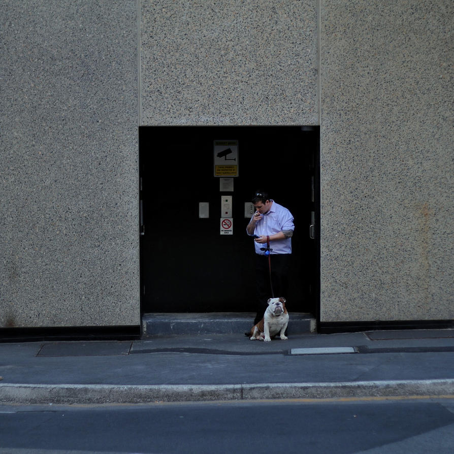 Man and Dog by Psalmalia