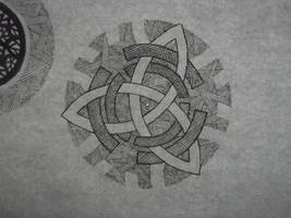 Day 52 (late) - Celtic crest of emptyness by AmaterSensei