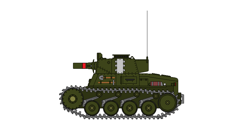 Light Tank B with a medium field howitzer by DonaldMoore909