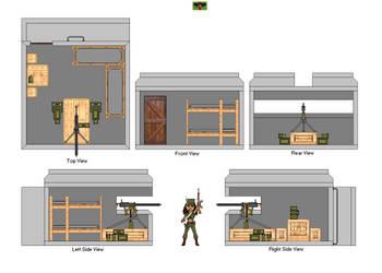 Bunker Concrete Machinegun Inside by DonaldMoore909