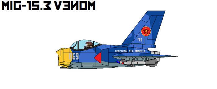 Mig-15.3 Venom Interceptor Blue Camo by DonaldMoore909