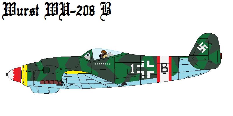 Wurst WU-208 B Fighter Interceptor by DonaldMoore909