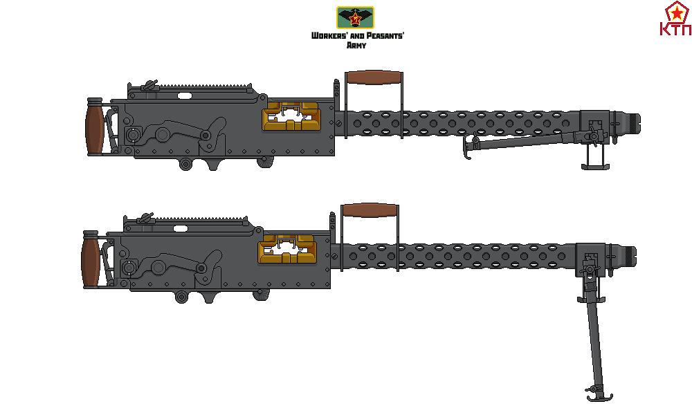 Vickers Air-Cooled Machinegun w Bi-Pod by DonaldMoore909