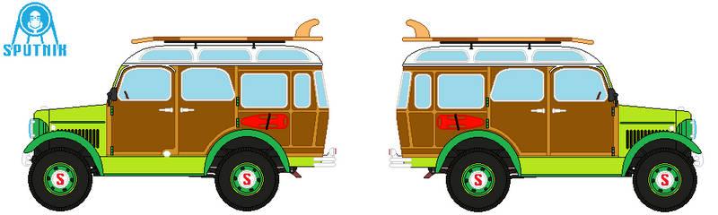 Sputnik CS8 Woodie Wagon by DonaldMoore909