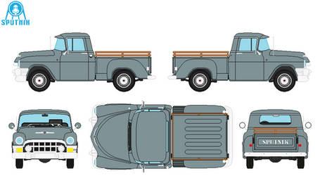 Sputnik Pustiire Pick-Up Truck by DonaldMoore909
