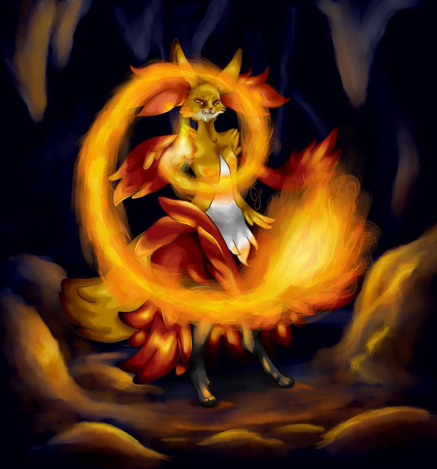 Delphox use FireSpin by Jililifish