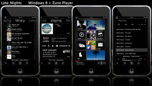 Windows 8 Metro + Zune Player by changeofplans
