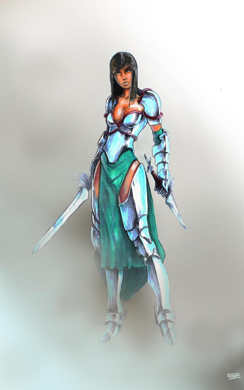 lady knight by Omuk