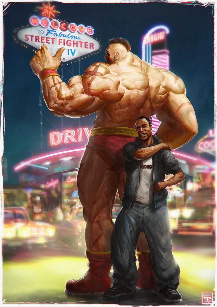 Snake Eyez Zangief by Omuk